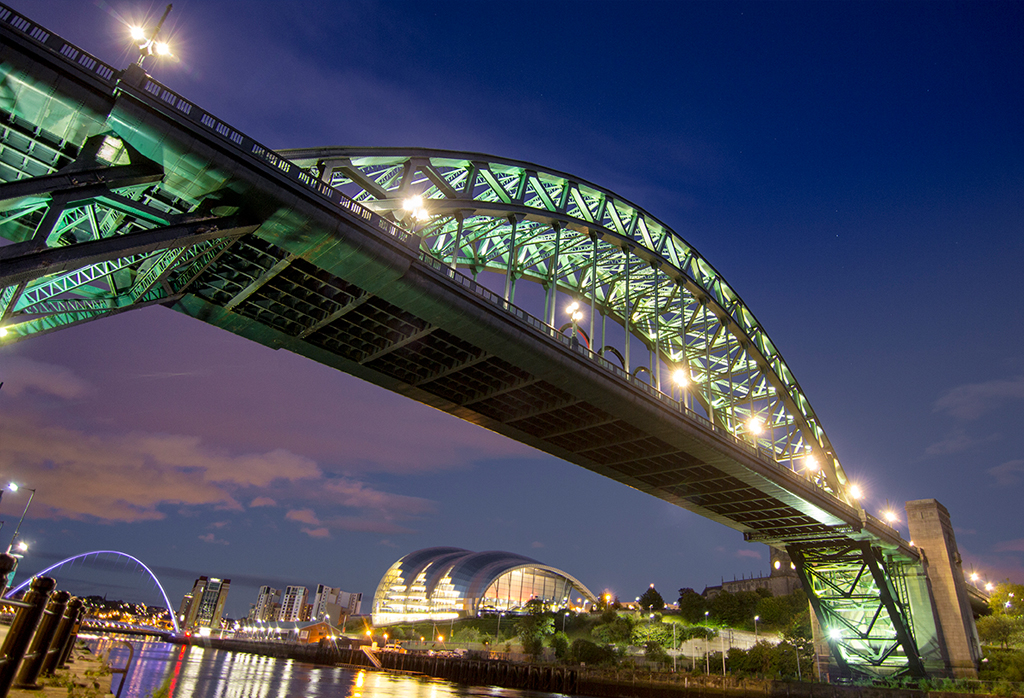 View from under Tyne Bridge