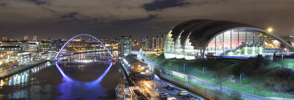 The Tyne on a cold winter night